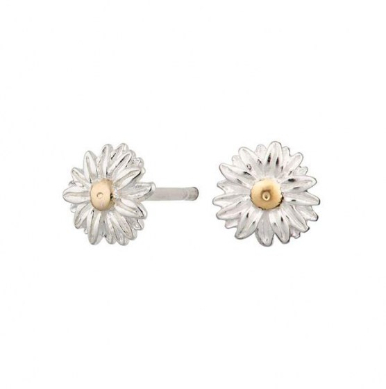 SilverDaisyStudEarrings1